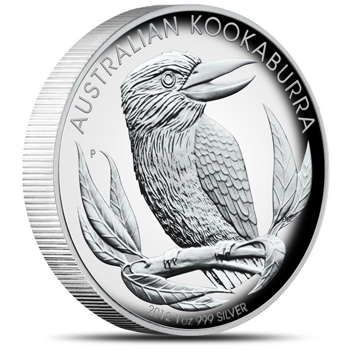 2012 High Relief 1 oz Kookaburra Reverse