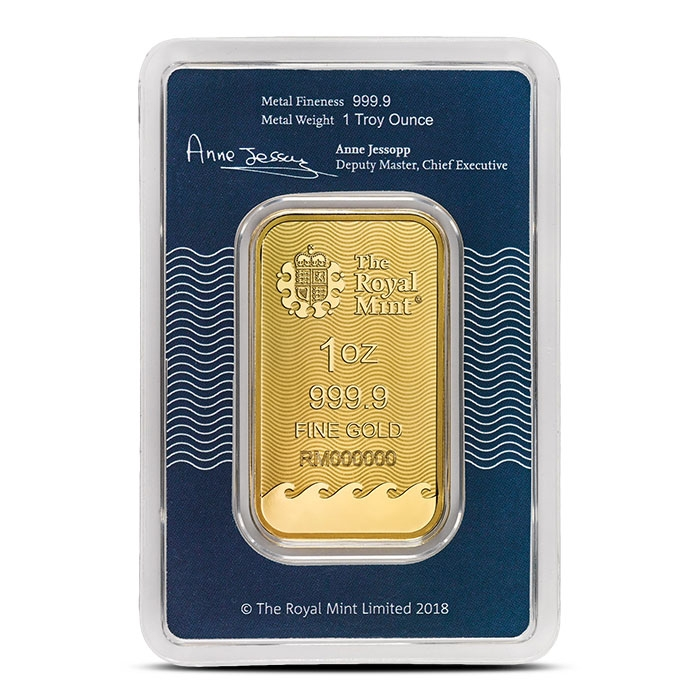 Britannia 1 oz Gold Bar in Assay Card Back