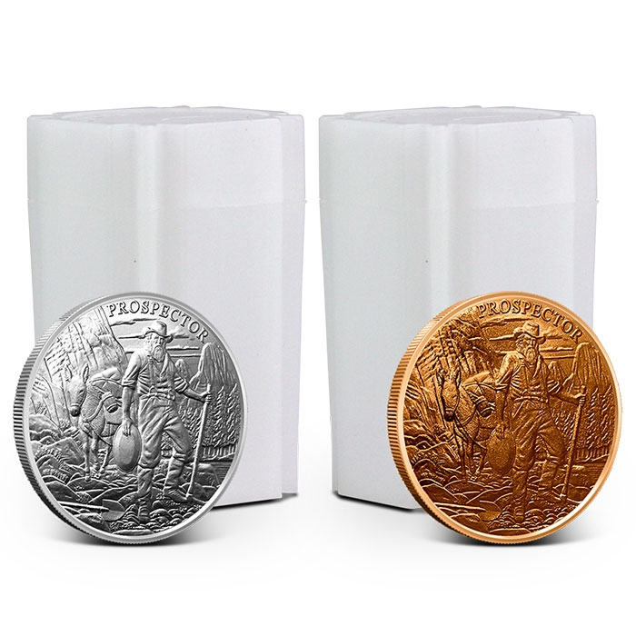 Buy 20 Prospector Silver Rounds, Get 20 Prospector Copper Rounds Free