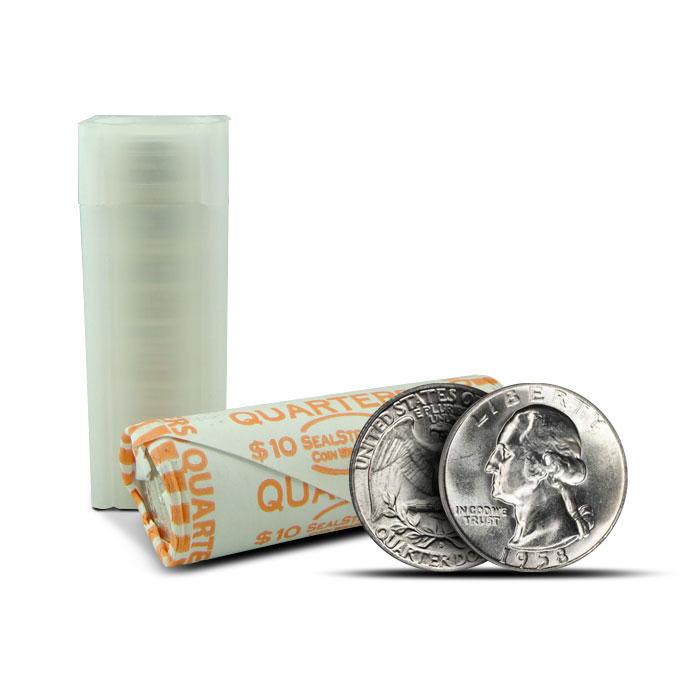 $10 Rolls of BU Washington 90% Silver Quarters