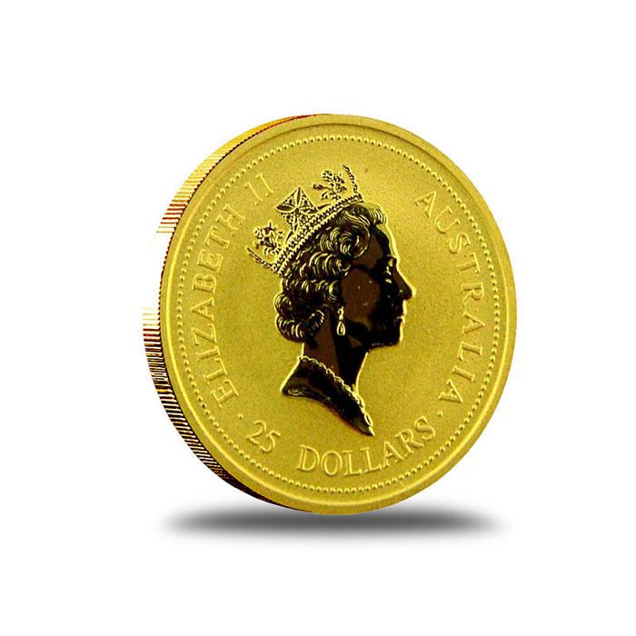 Australian Kangaroo 1/4 oz Gold Coin Obverse
