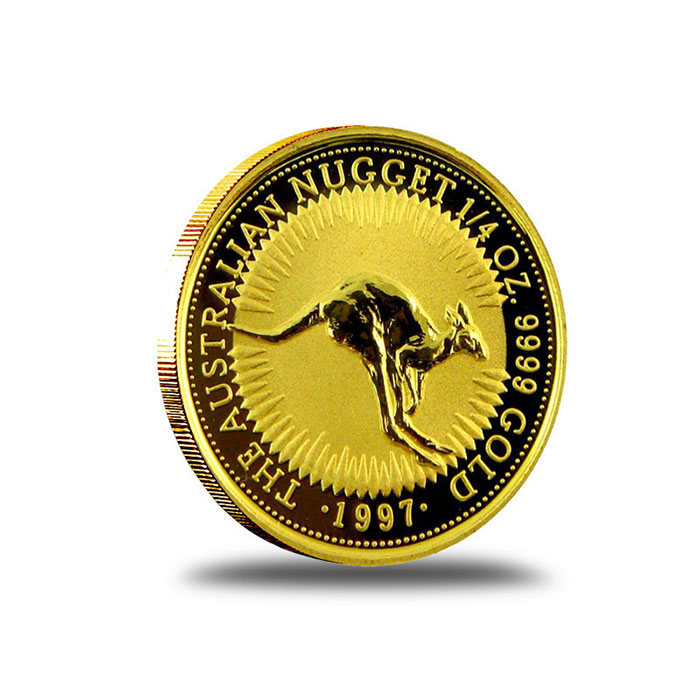 Australian Kangaroo 1/4 oz Gold Coin Reverse