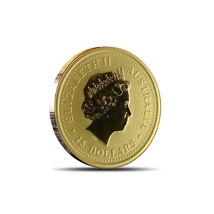 2001 Perth Mint 1/10 oz Gold Snake Reverse