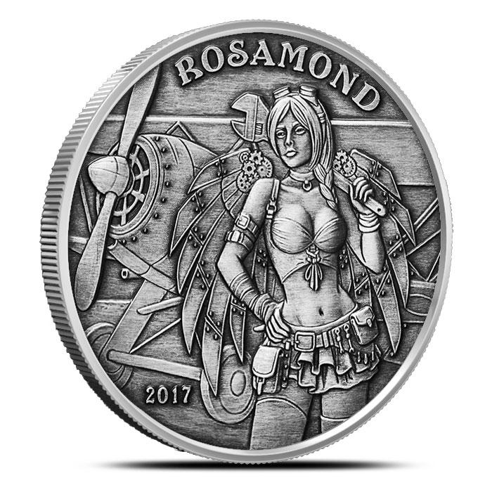 Rosamond Angels & Demons Vintage Silver Round