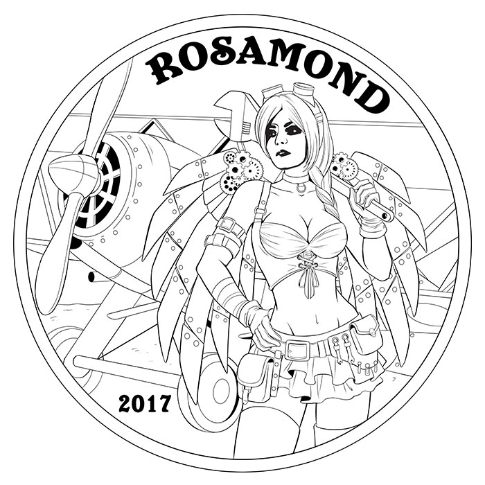 Angel Rosamond Concept Sketch