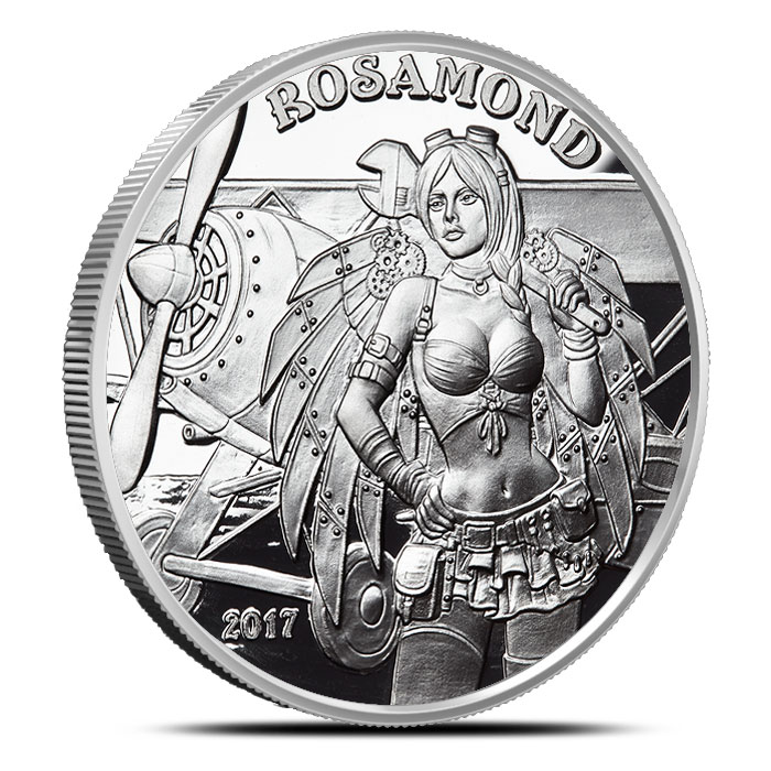 Angel Rosamond 1 oz Silver Proof Round | Angels & Demons Steampunk Collection