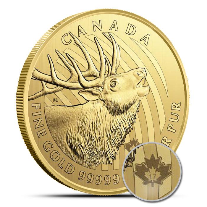 1 oz Gold Elk Coin