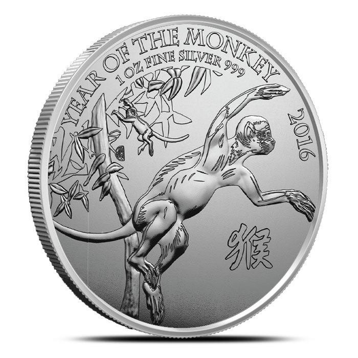 2016 Year of the Monkey 1 oz Silver Round | Royal Mint