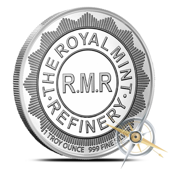 One ounce Silver RMR Shield Round