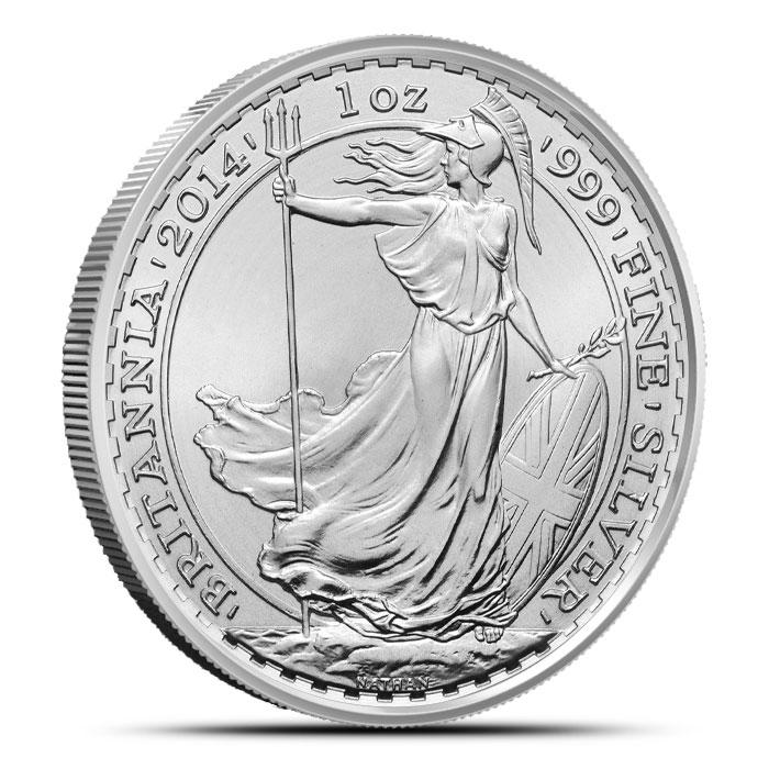 2014 1 oz Britannia Silver Coin Obverse