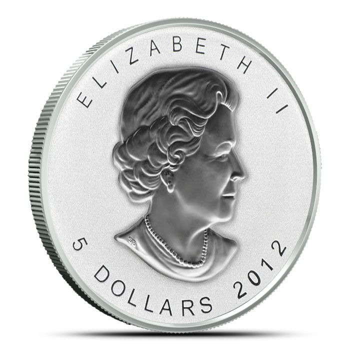 2012 Titanic Privy 1 oz Silver Maple Leaf Reverse