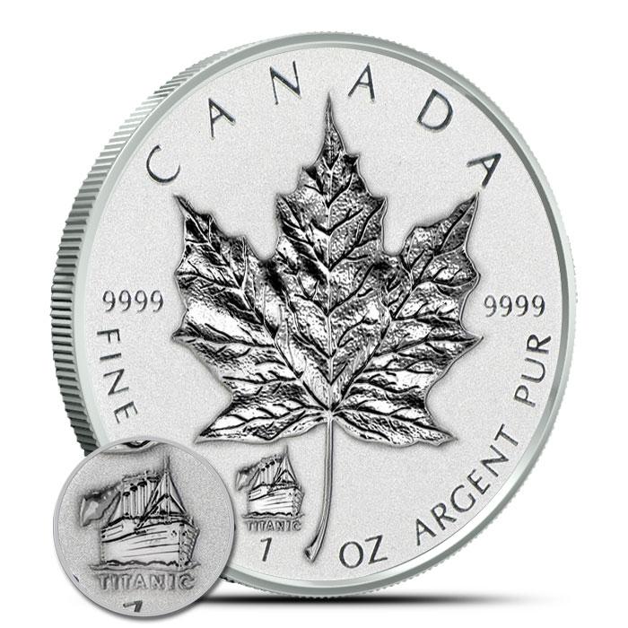 2012 Titanic Privy 1 oz Silver Maple Leaf