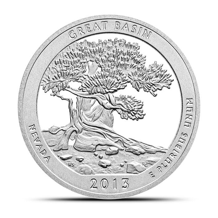 2013 Great Basin National Park ATB 5 oz Silver Coin