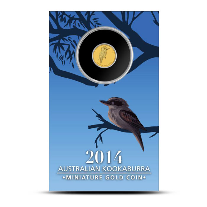 2014 Mini Kookaburra 1/2 Gram Gold Coin Card