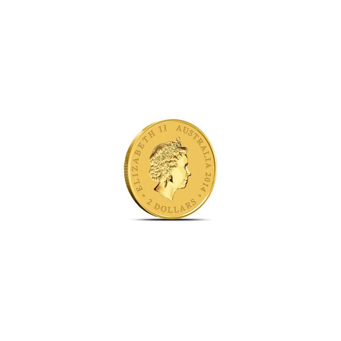 2014 Mini Kookaburra 1/2 Gram Gold Coin Reverse