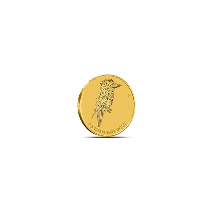 2014 Mini Kookaburra 1/2 Gram Gold Coin Obverse