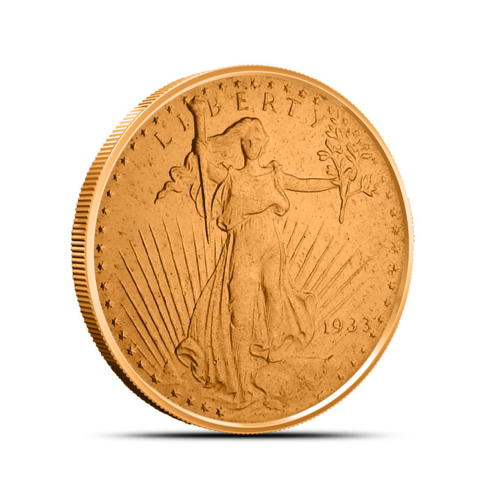 Saint Gaudens 1/2 oz Copper Round Obverse