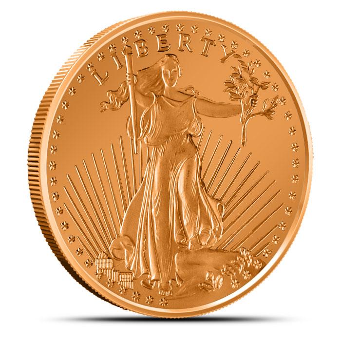 Saint Gaudens1 oz Copper Round