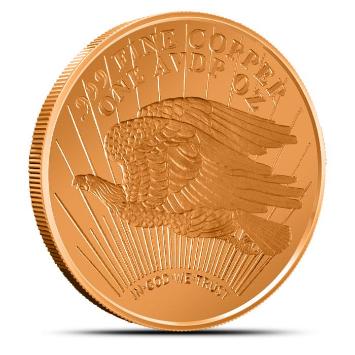 Saint Gaudens1 oz Copper Round Reverse