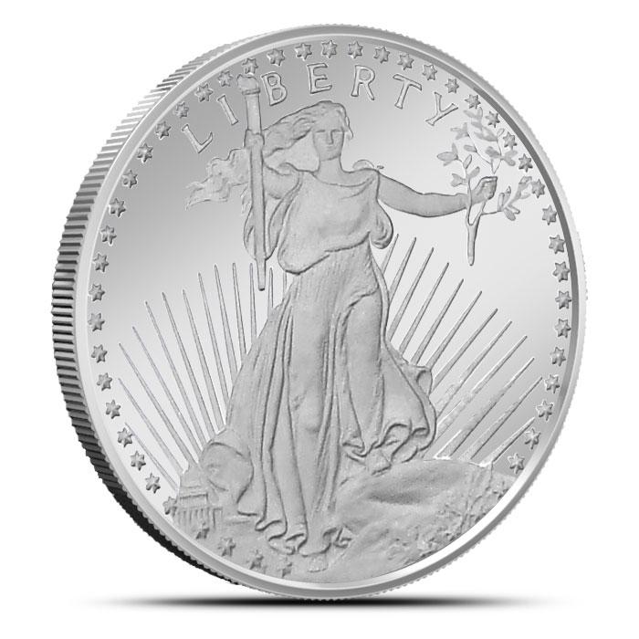 Saint Gaudens 1 oz Silver Round