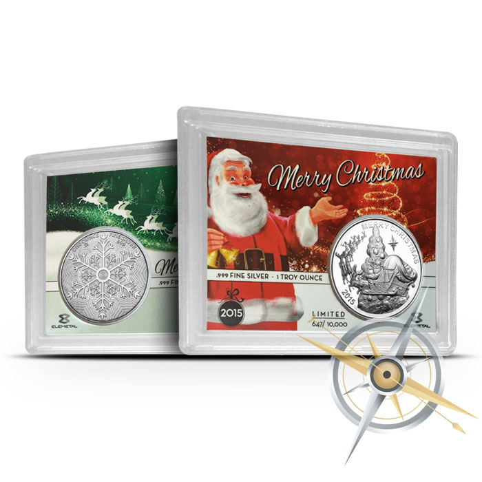 Limited Edition Santa Claus 1 oz Silver High Relief Round