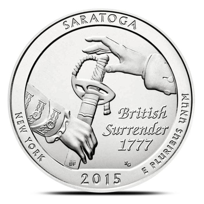 2015 Saratoga National Historical Park 5 oz Silver Coin
