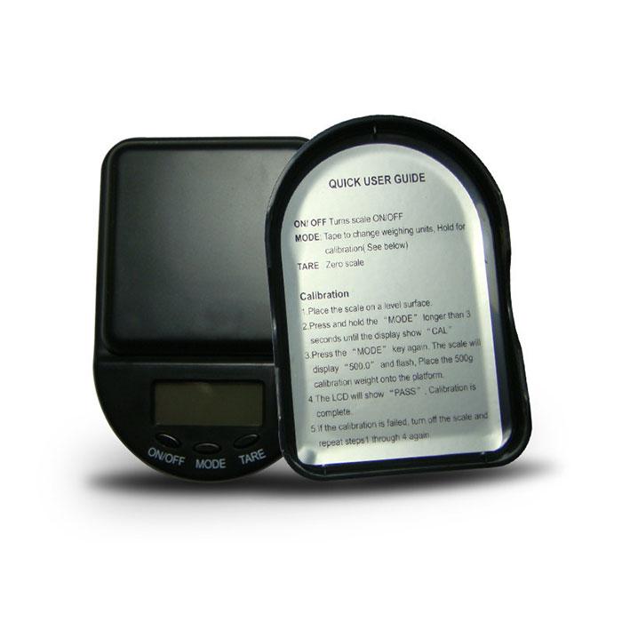 650 gram WeighMax Digital Pocket Scales Bottom
