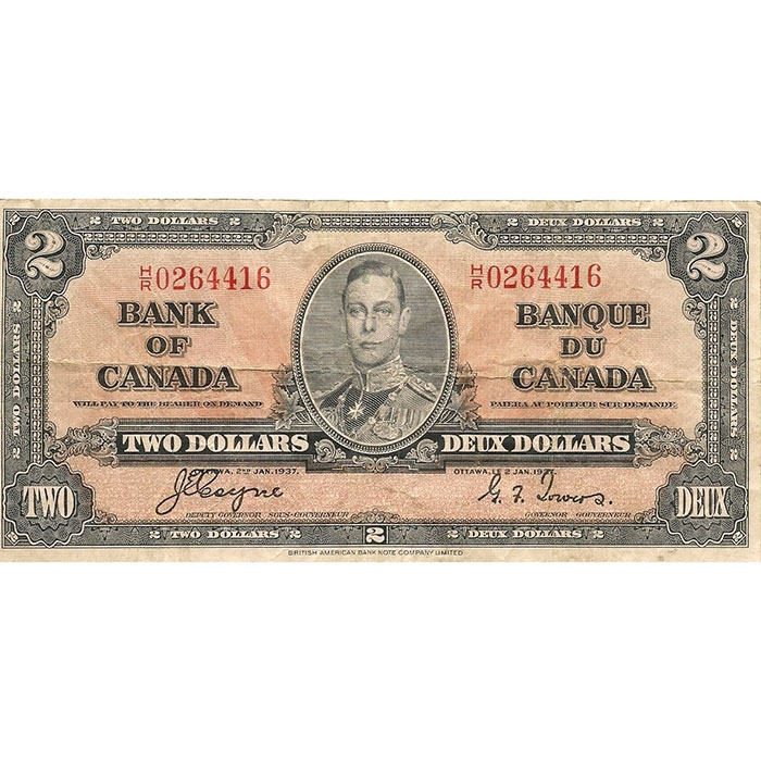 1937 Canada 2 Dollar | VF or Better
