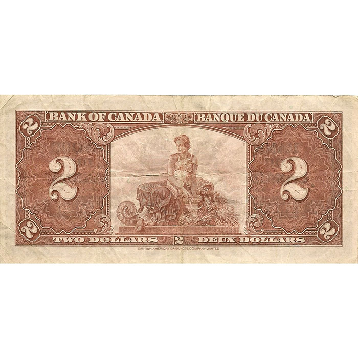 1937 Canada 2 Dollar | VF or Better Back
