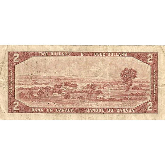 1954 Canada 2 Dollar   Small Size   Circulated-3394