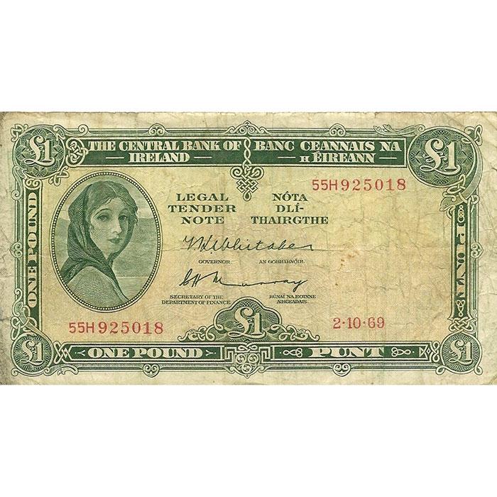 1962-76 Ireland 1 Pound | Average Circulated -0