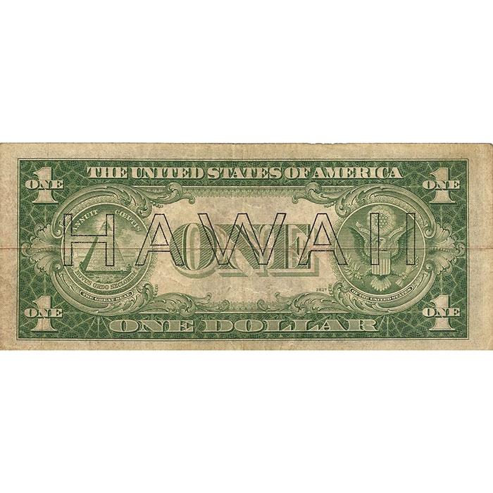 World War II Emergency Issue 1935 Hawaii $1 Silver Certificate Reverse