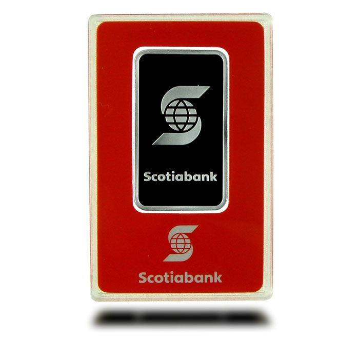 1 oz Scotiabank .9995 Fine Platinum Bullion Bar In Card Front