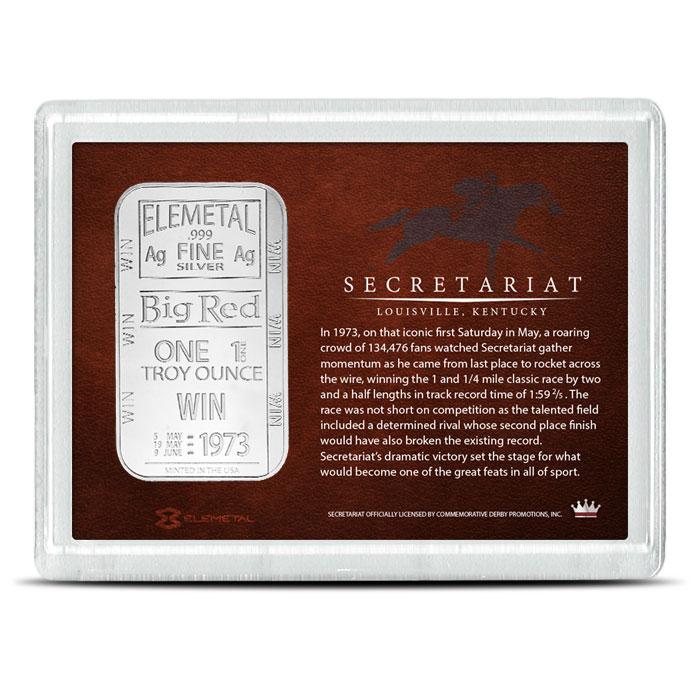 One ounce Silver Bar | Secretariat