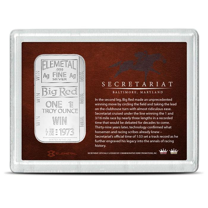 1 oz Silver Bar | Secretariat