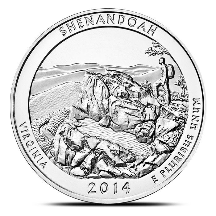 2014 Shenandoah National Park 5 oz Silver ATB