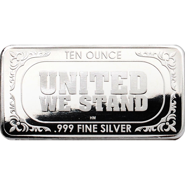 10 oz Silver American Flag Bar Back