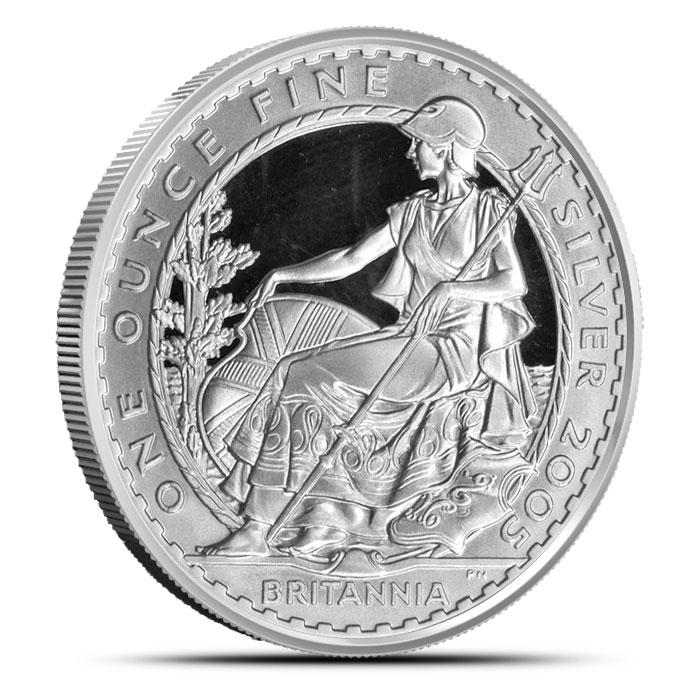 2005 1 oz Silver Britannia