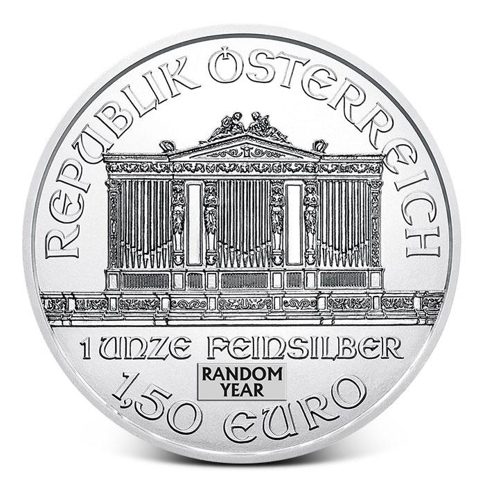 Austria 1 oz Silver Philharmonic Reverse