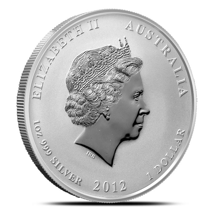 2012 1 oz Silver Year of the Dragon