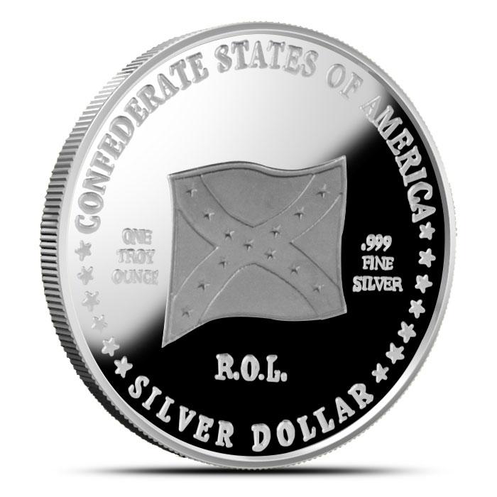 1 oz Silver Confederate States of America | Gen. Albert Sidney Johnston Reverse