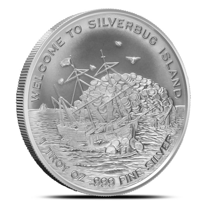 1 oz Silver Finding Silverbug Island Bullion Round