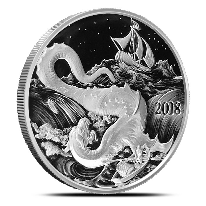 2018 Silverbugs 1 oz Silver Proof | Leviathan