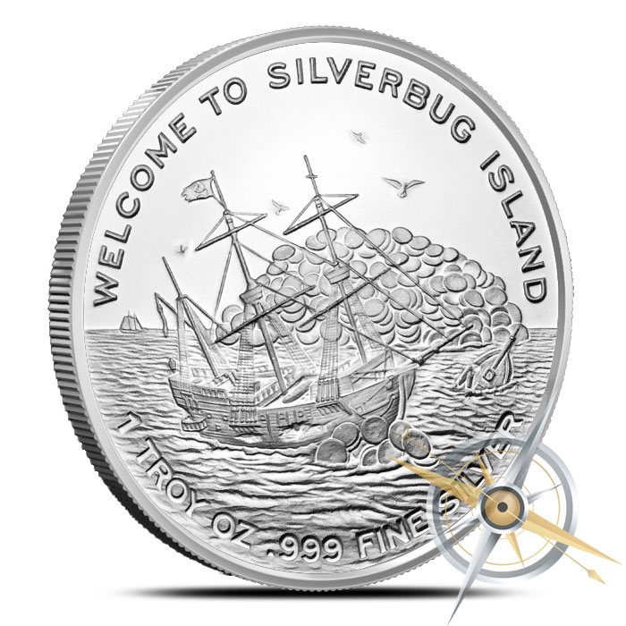 2016 Silverbugs Kraken one ounce Silver Round