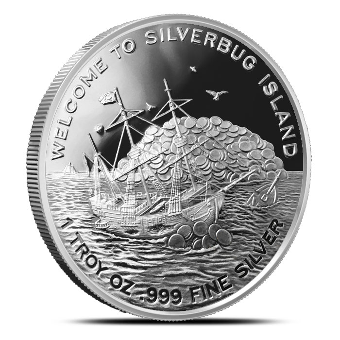 2016 Silverbugs Kraken one ounce Proof Silver Round
