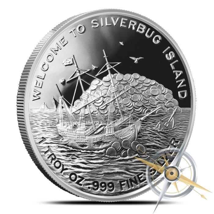 Silverbugs Mermaid 1 oz Silver Round   Proof