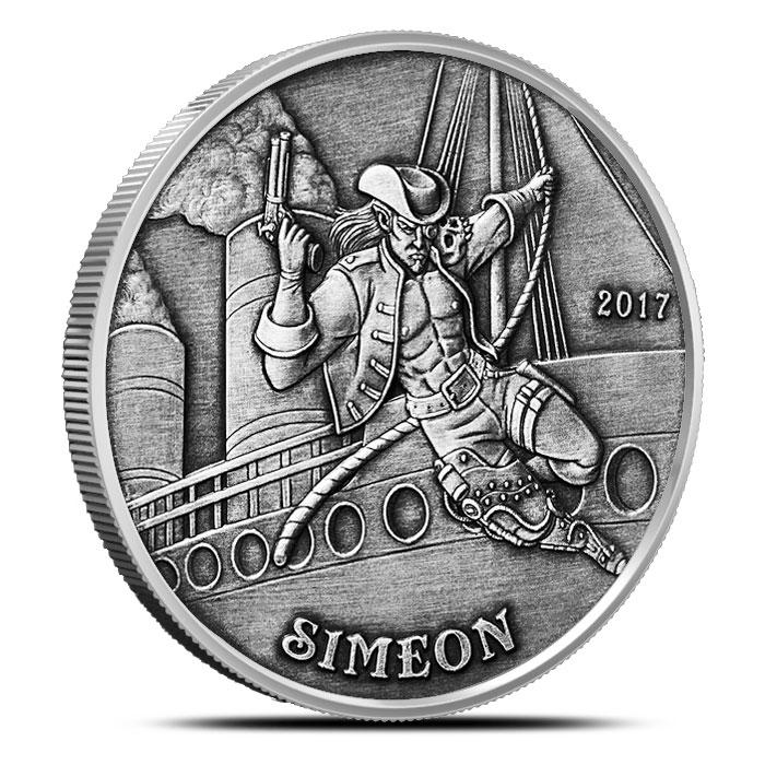 Simeon Angels & Demons Vintage Silver Round