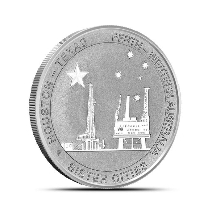 2014 Texas-Australia 1/2 oz Silver Sister Cities Coin