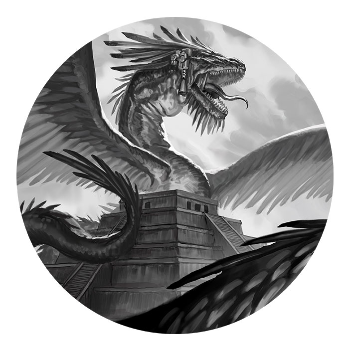 The Aztec Dragon Sketch | World of Dragons