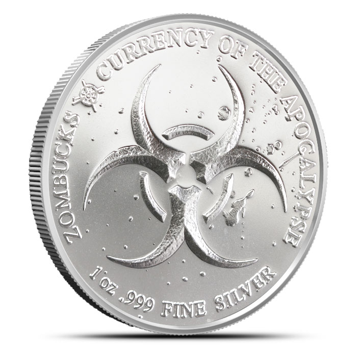 Zombucks Slayed Dollar one ounce Silver Round